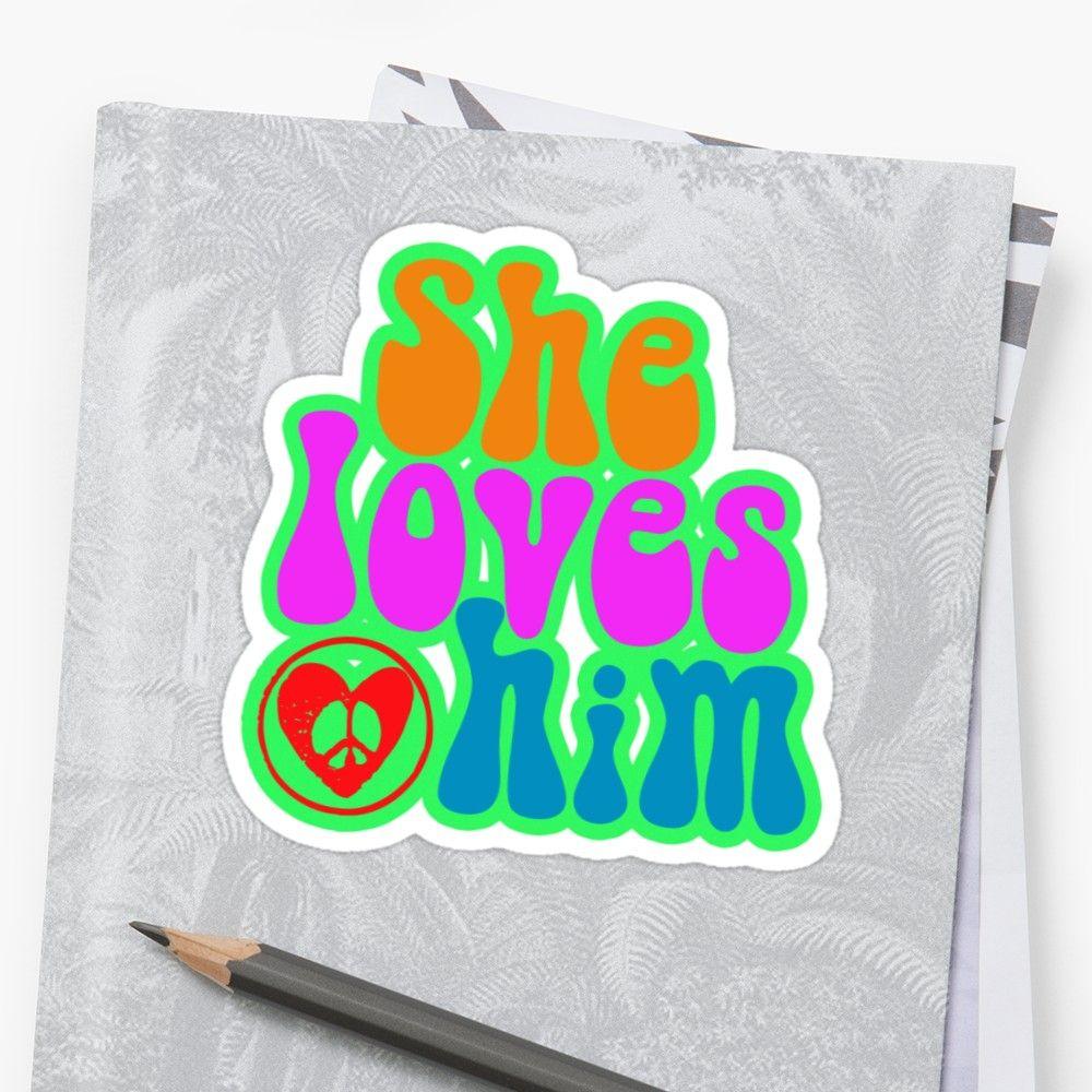 'She loves him valentine's day romantic gift hippie motif