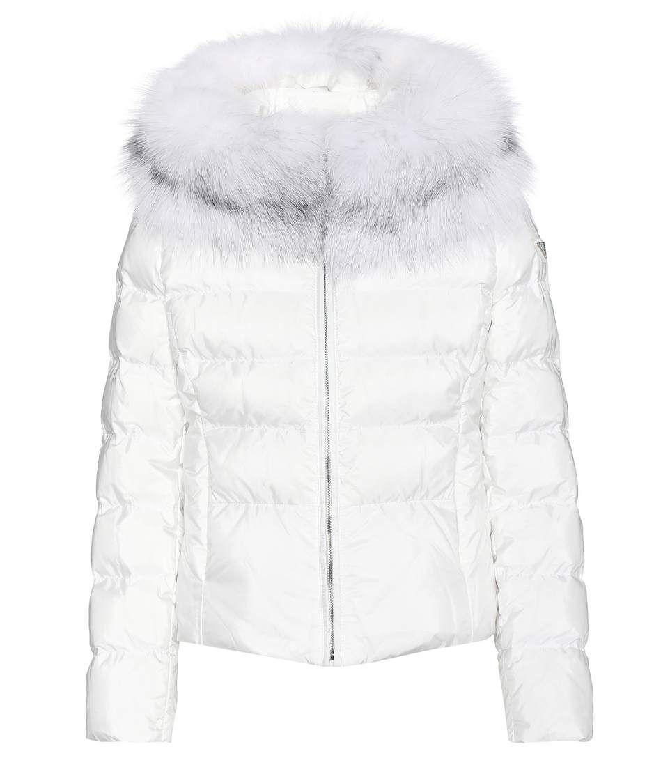Prada Fur Trimmed Down Jacket Prada Cloth Jackets [ 1088 x 962 Pixel ]