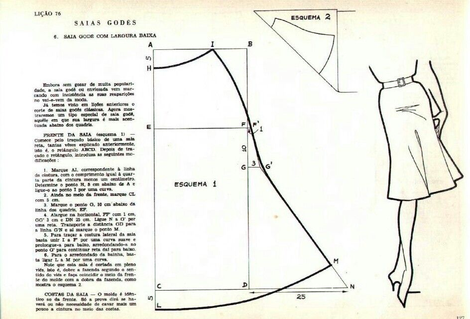 Obviously a skirt! Need translating and some dressmaking experience ...