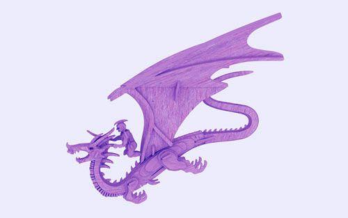 The Dragon Rider (plasma) - Mythical (Plasma)   MakeCNC.com
