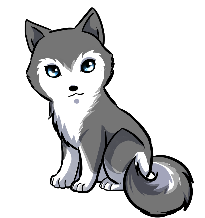 Pin By Cu Te On Animals Are Beautiful In 2020 Cute Wolf Drawings Kawaii Drawings Cute Kawaii Drawings