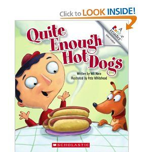 this book about a boy who loves hot dogs so much that he turns into one...great for comparing/contrasting with Pinkalicious!