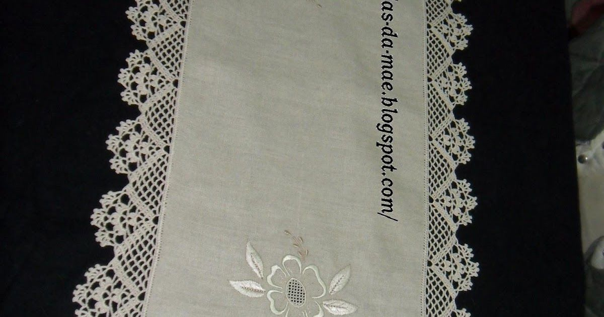 Artigos feitos m o em croch e tricot havlu lavoro for Pizzi all uncinetto per asciugamani
