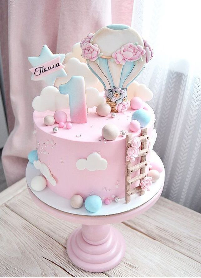 Stupendous Decor Gateaux With Images Baby Birthday Cakes Baby Cake Girl Funny Birthday Cards Online Elaedamsfinfo