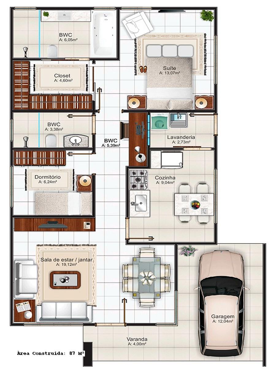 35 Modelos de Planta Baixa Minha Casa Minha Vida 2019