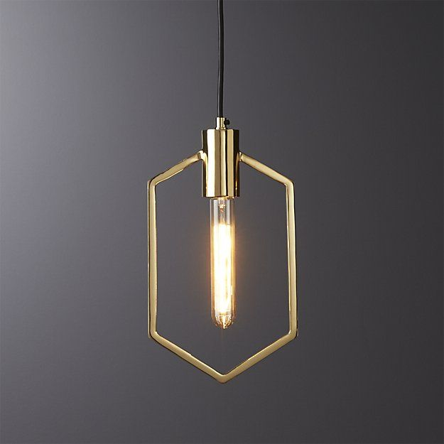 geometric brass pendant light | CB2 | Housewares ...