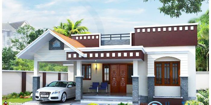 Modern One Story Home With Roof Deck Pinoy Eplans Kerala House Design Single Floor House Design Small House Front Design