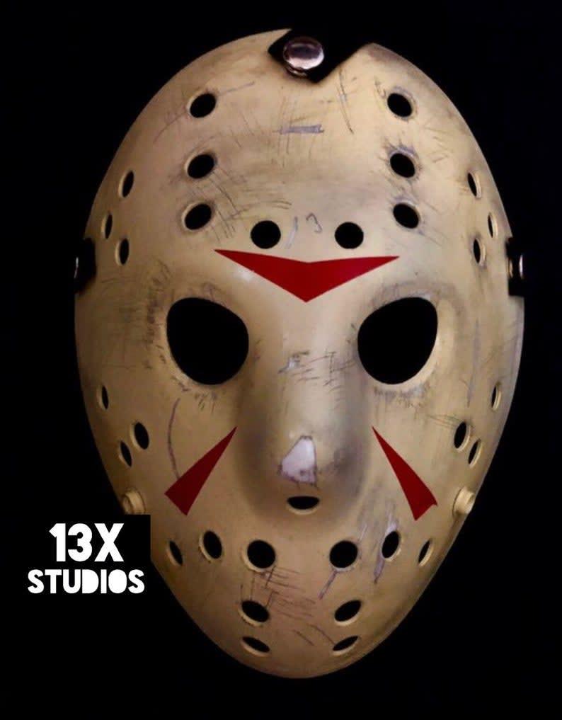 Custom Part 3 Hockey Mask 13x Studios Nightmare Toys In 2020 Halloween Masks Jason Voorhees Costume Jason Voorhees