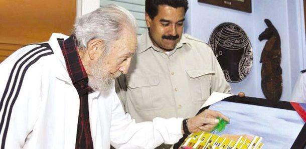 Veneuzelan President Maduro meet with Cuban Leader Fidel Castro / Latin America News