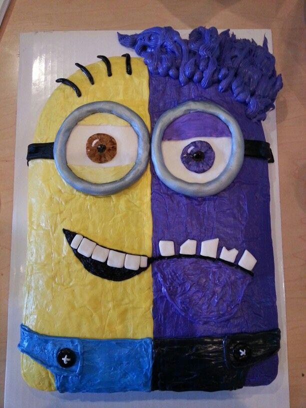 Purple Minion Cupcake Cake