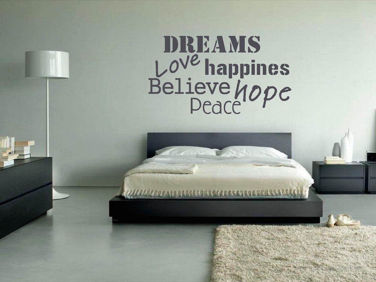 Afbeeldingsresultaat voor muurtekst slaapkamer | Huis en tuin ...