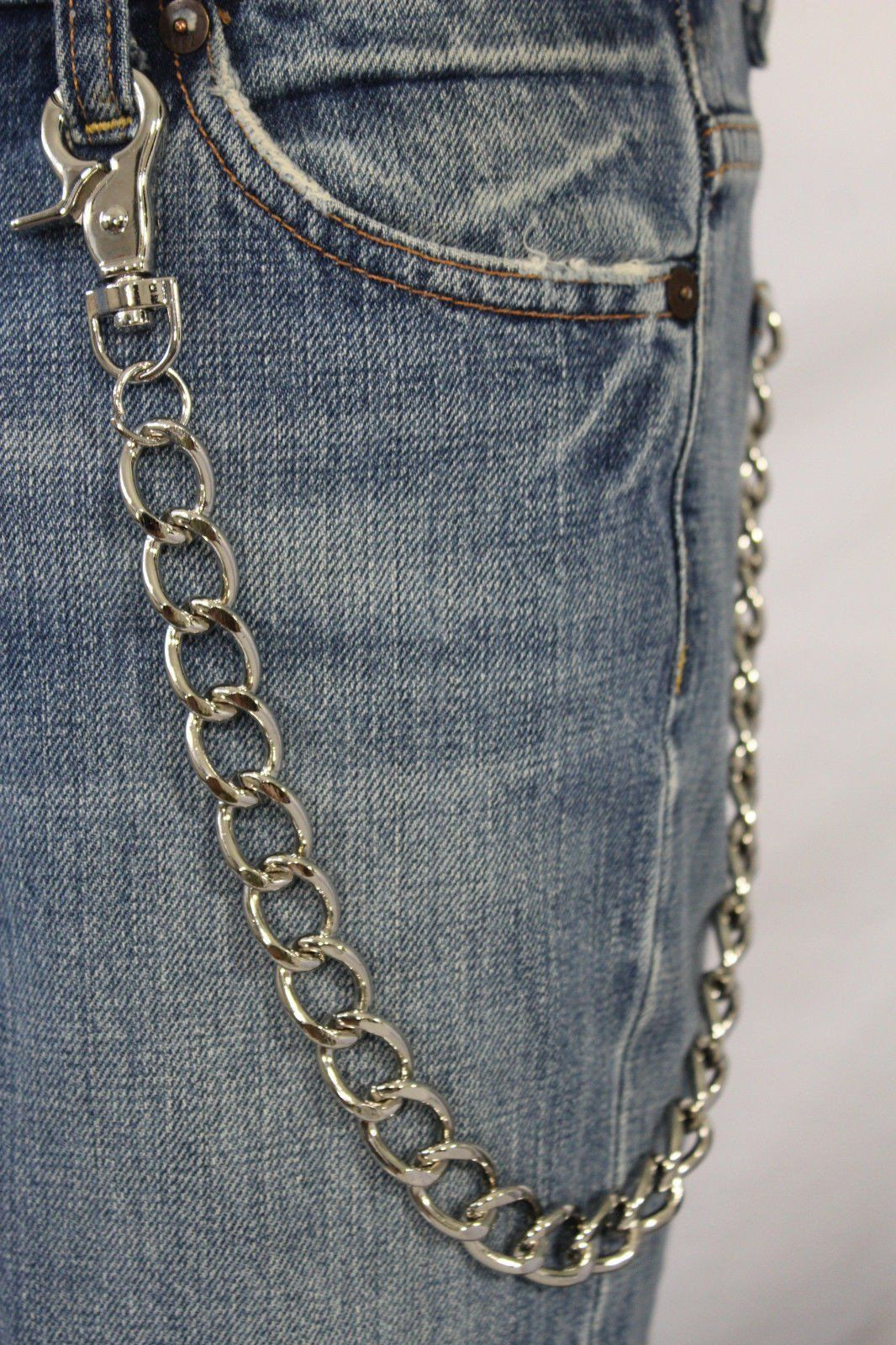 Men/'s Wallet Chain Gold Plated Metal Pants Chain Biker Trucker Punk Key Chain