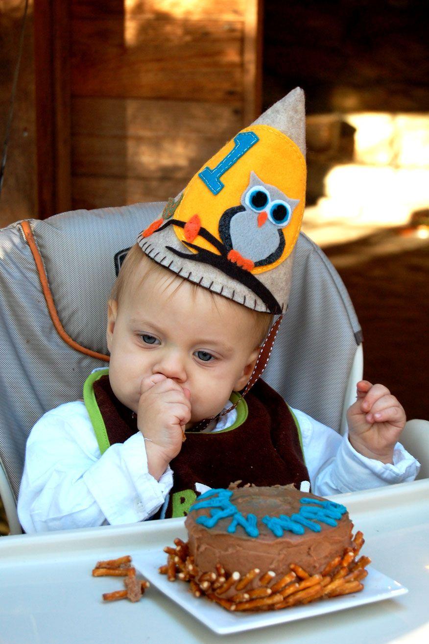 First Birthday Hat For My Baby Boy