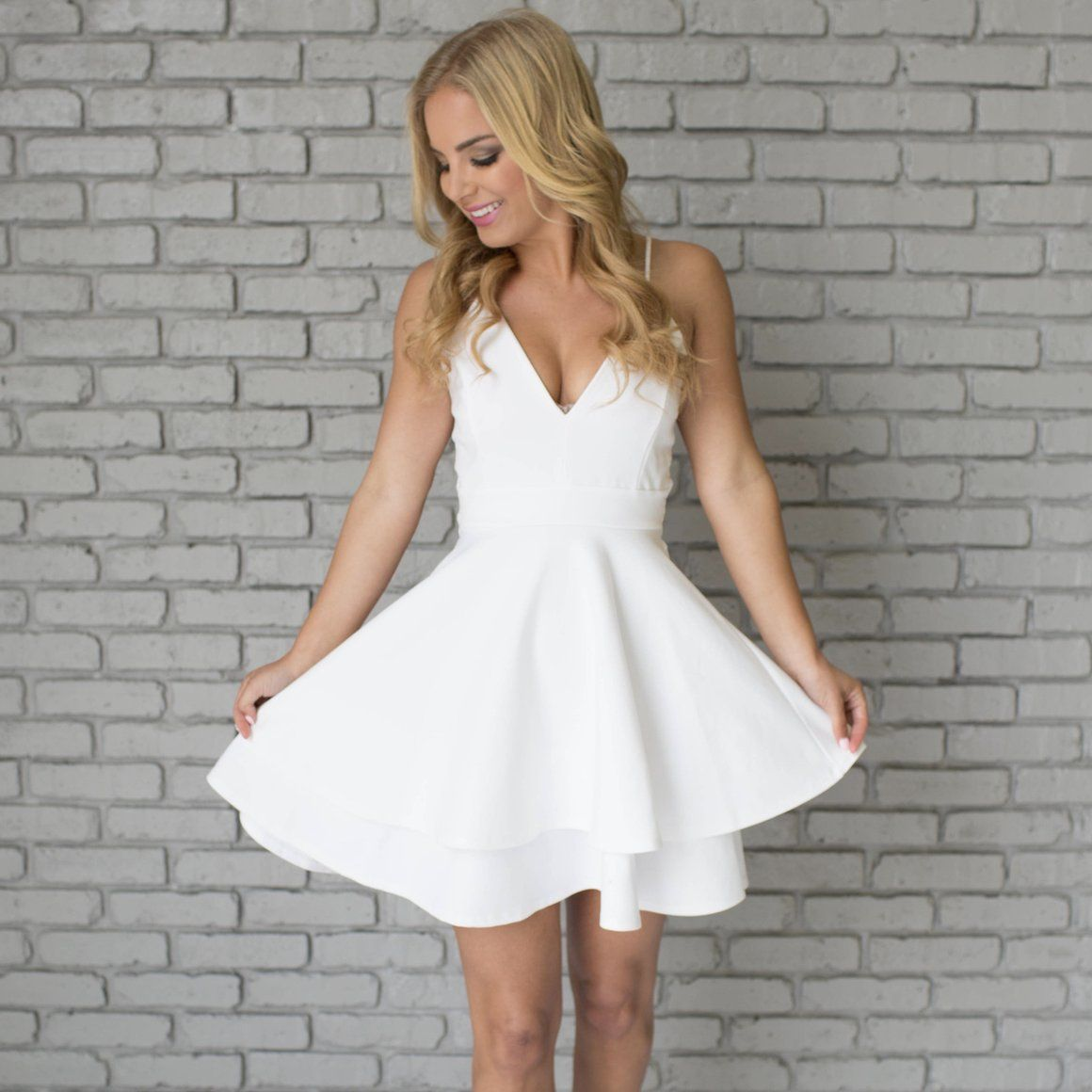 Juadore skater dress in white whatus new pinterest online