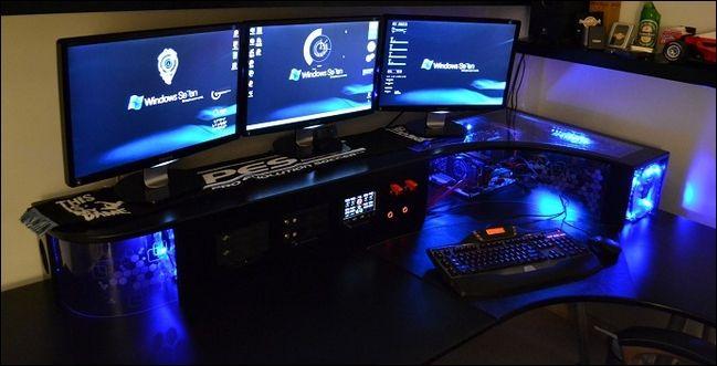 A Custom Built Workstation Featuring An
