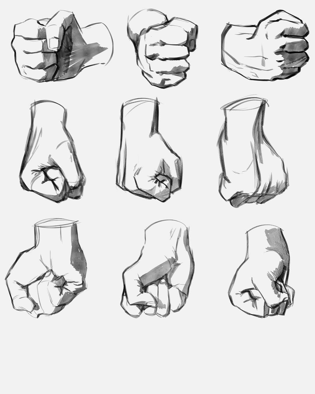 And Day 3 Monthlychallenge Artchallenge Hands Drawings Artstudies Fist Hand Drawing Reference How To Draw Hands Drawing Fist