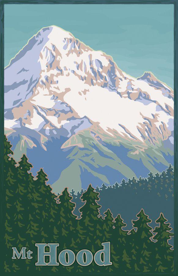 Mt Hood By Mitch Frey Via Behance Volcano Cascade Range