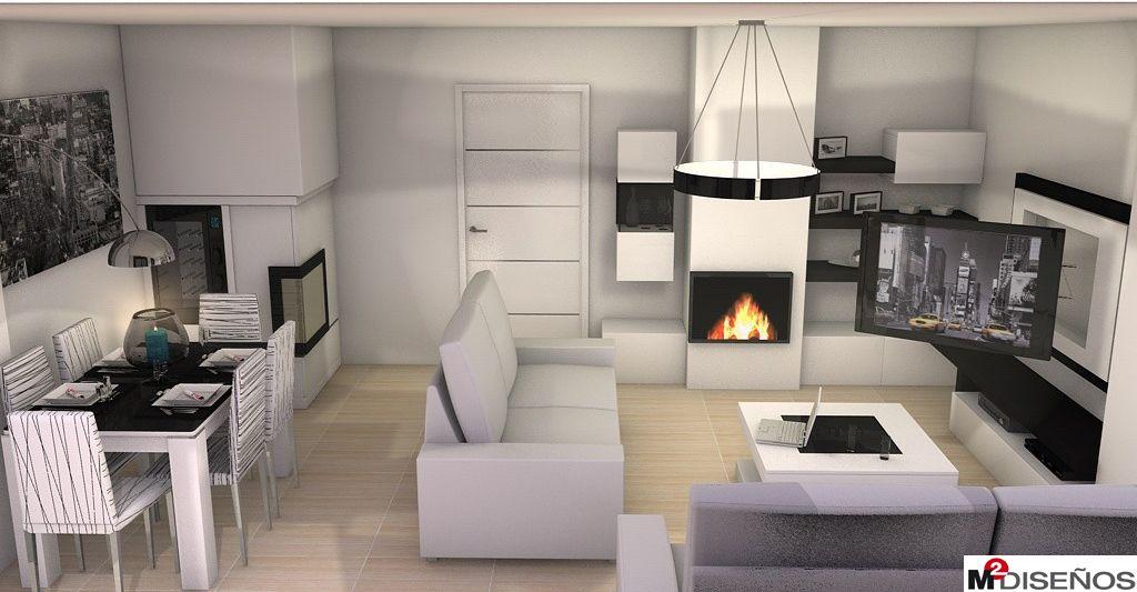 Resultado de imagen de salon comedor diseño blanco m2 diseño ...