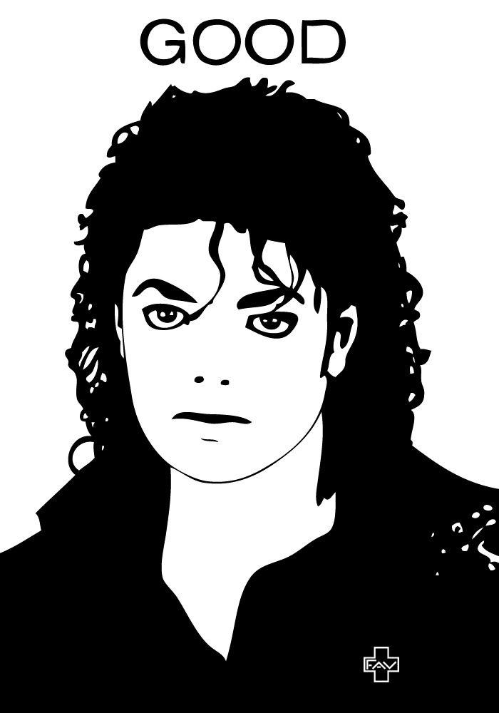 Michael Jackson Shadow Painting Silhouette Art Black White