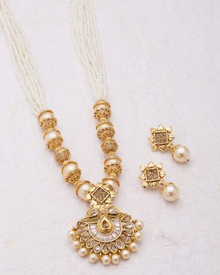 Voylla Lovely Necklace Embellished with Pearls for Women