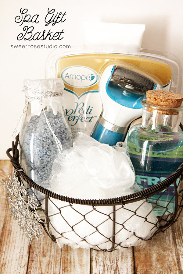 Spa Gift Basket perfect for any special someone who works hard:  teachers, nurses, moms, just about anyone!