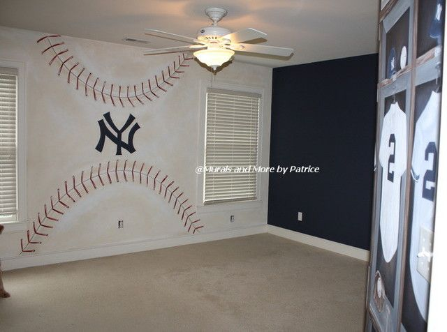 Attractive NY Yankees Big Boy Room   Traditional   Kids   New York   Murals And More  By Patrice San Fran Giants Of Course