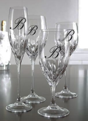 Glassware Monogram Decals Add Elegance To Your Wedding Reception - Vinyl decals for glassware