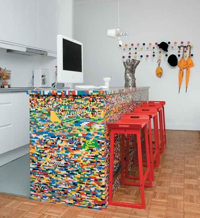 Lego Kitchen Backsplash
