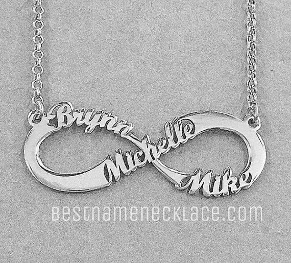 with heart names name couple pin infinity necklace pendant gold