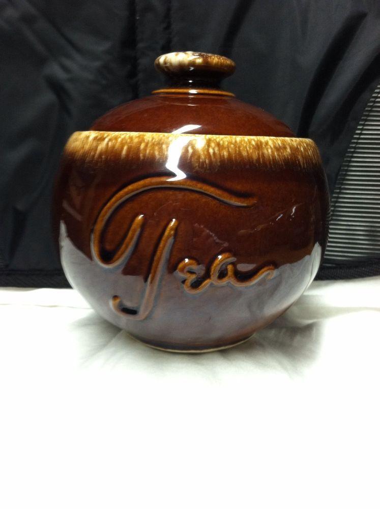 Super Rare Hull Brown Drip Tea Canister Hull Brown Drip
