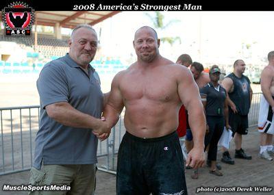 (Right) Strongman Nick Best - Height: 188 cm / 6' 2