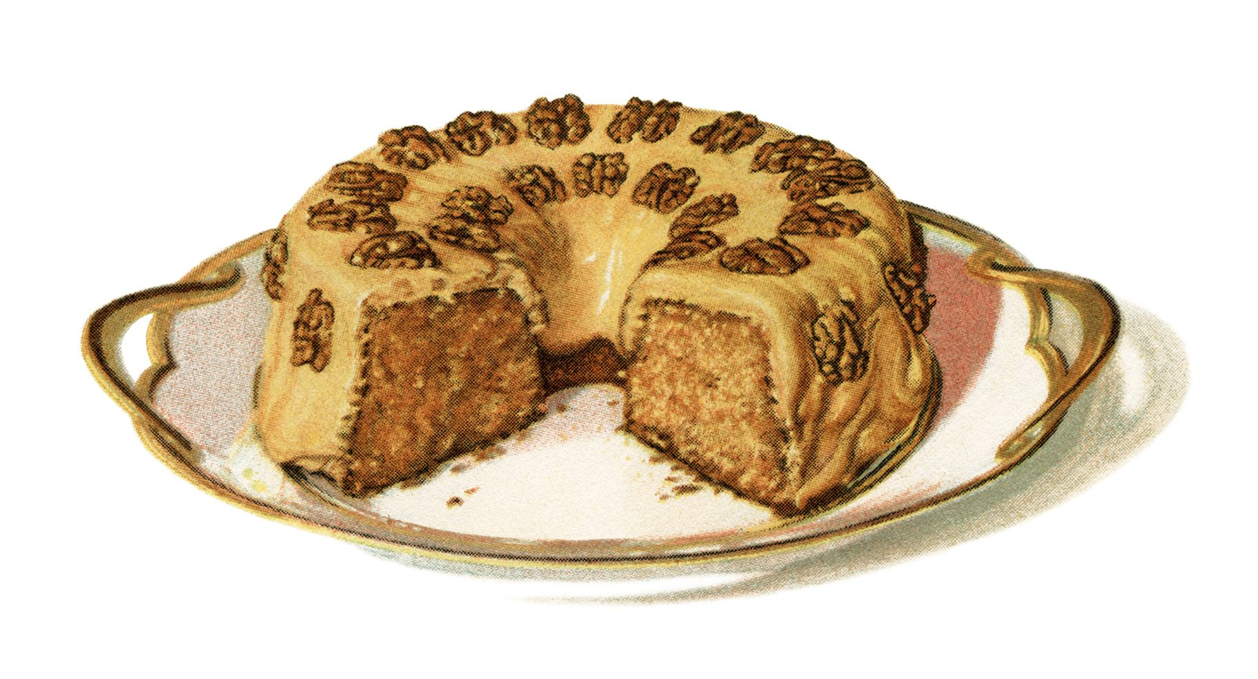 retro cake art vintage cake clipart baking clip art maple syrup cake recipe old  [ 1827 x 987 Pixel ]