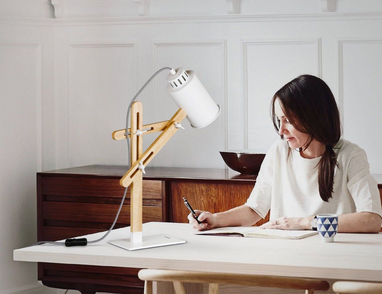 Add Some Modernity To Your Workspace With The Tomons Led Multi Angle Wood Desk Lamp It Has A Delightfully Scandinavian Wood Desk Lamp Desk Lamp Led Desk Lamp