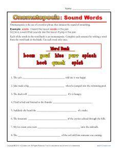 Onomatopoeia Worksheet by Lachy90 - Teaching Resources - Tes