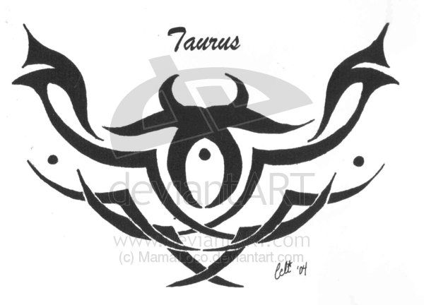tribal taurus tattoo sample tattoo ideas pinterest