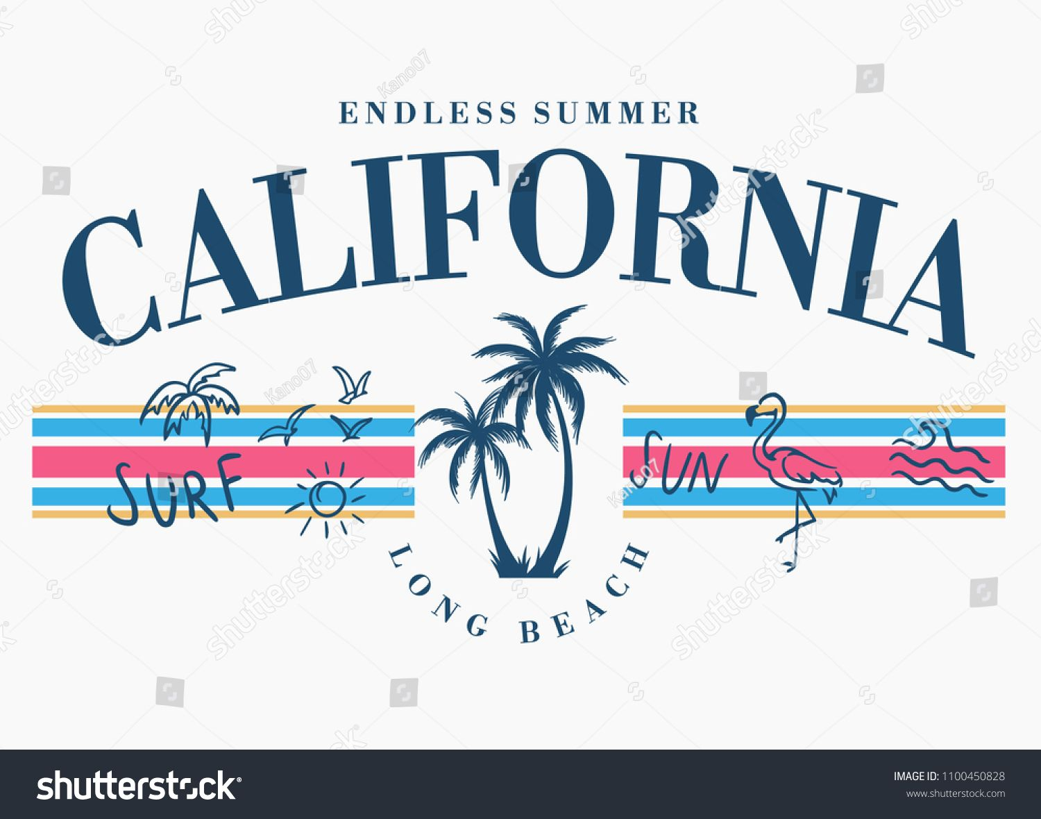 Download California vector illustration, for t-shirt print and ...