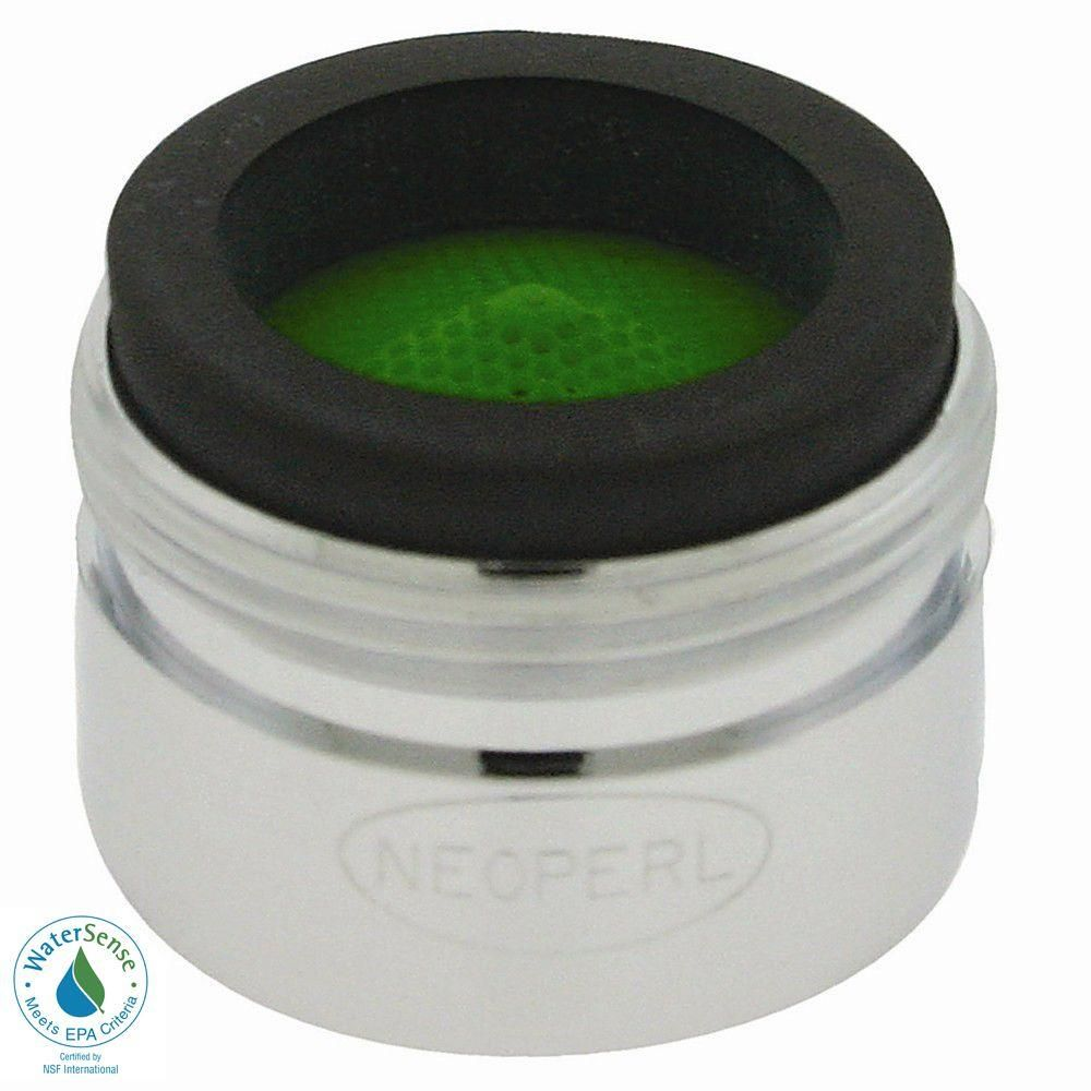 1.5 GPM Small Male Water-Saving Faucet Aerator, Grey
