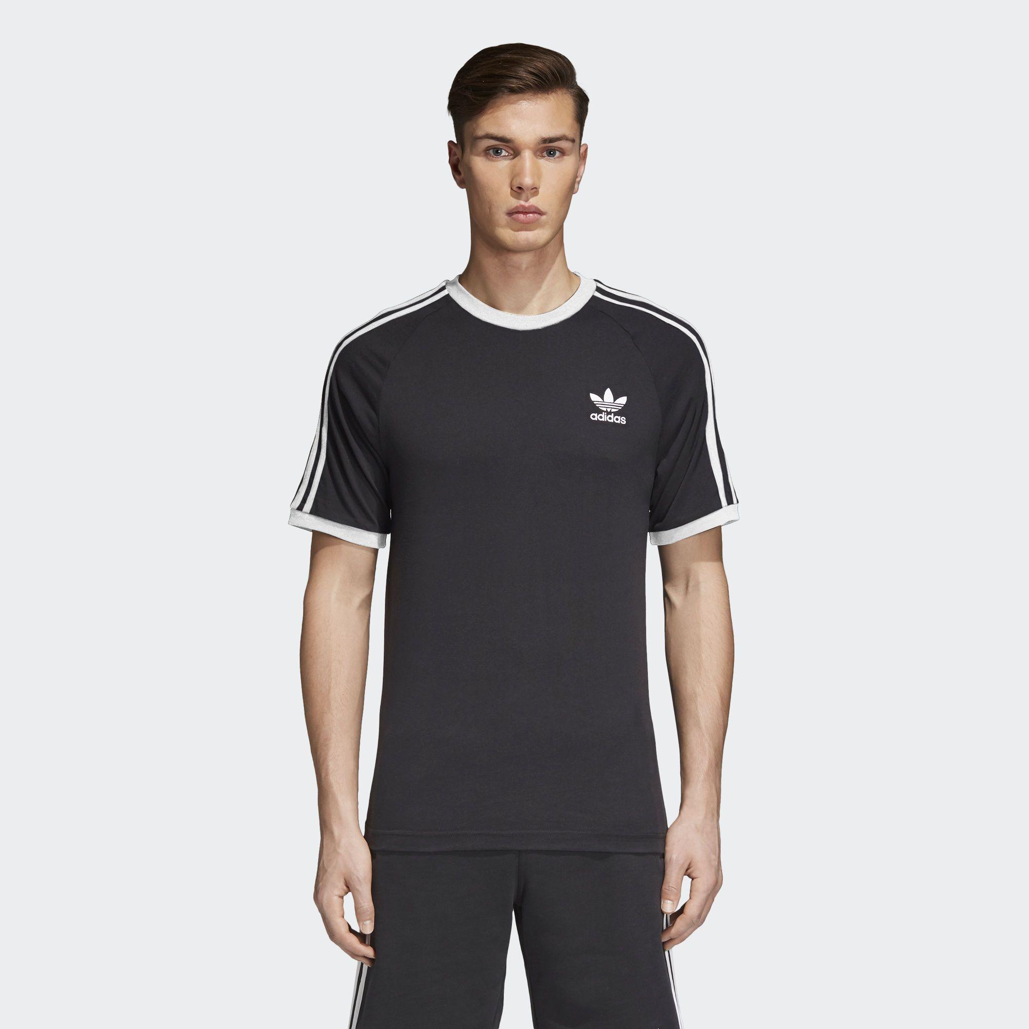 Adidas California Tee Black 3 Stripes CLFN AZ8127