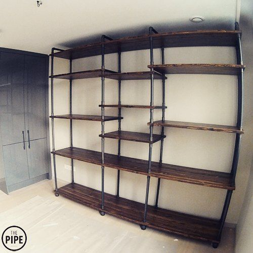 Thepipe 2400w 450d 2200h pipeshelve pipefurniture for Muebles portillo armarios
