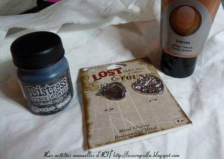 Vieillir une breloque avec la Distress Crackle Paint de Ranger par LN - Boutique Art du Scrapbooking