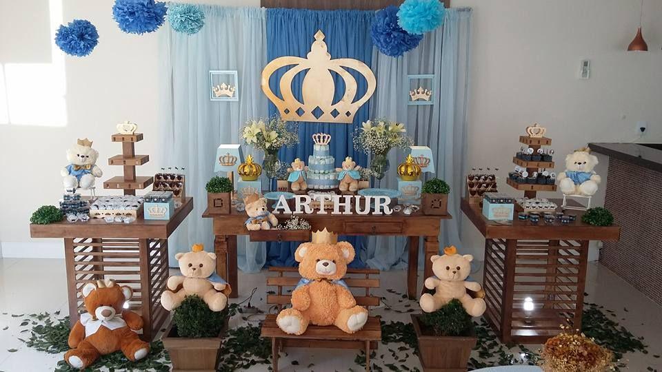 Crile Decoracoes De Festas Infantis Cha De Bebe Urso Rei Festa