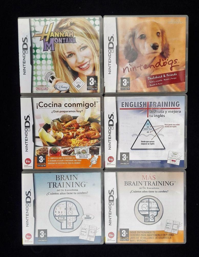 Nintendo DS Lot OF 6 Games English Training, Cocina Conmigo, Brain Training  #Nintendo