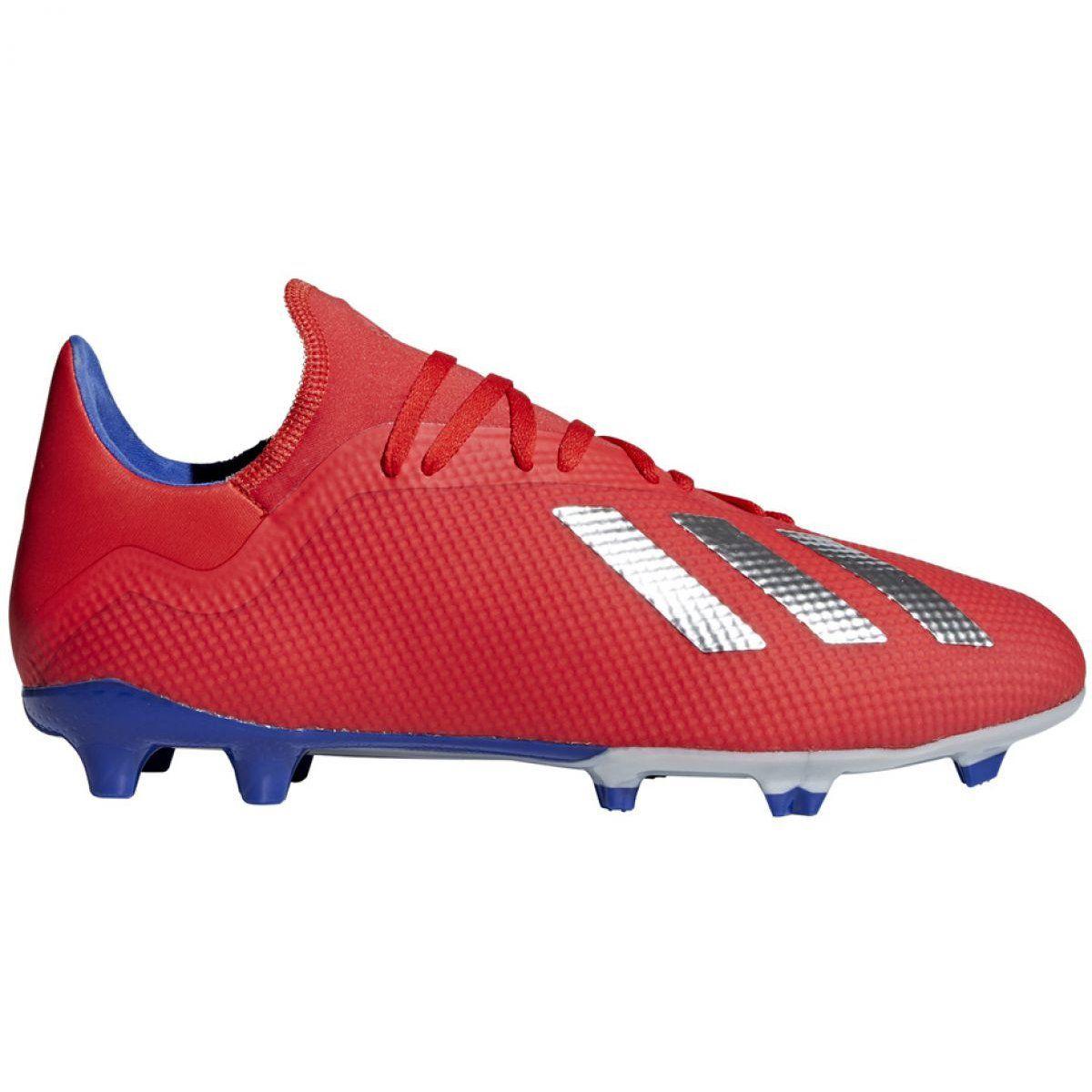 Buty Pilkarskie Adidas X 18 3 Fg M Bb9367 Czerwone Wielokolorowe Adidas Men Football Shoes Adidas Outfit Shoes