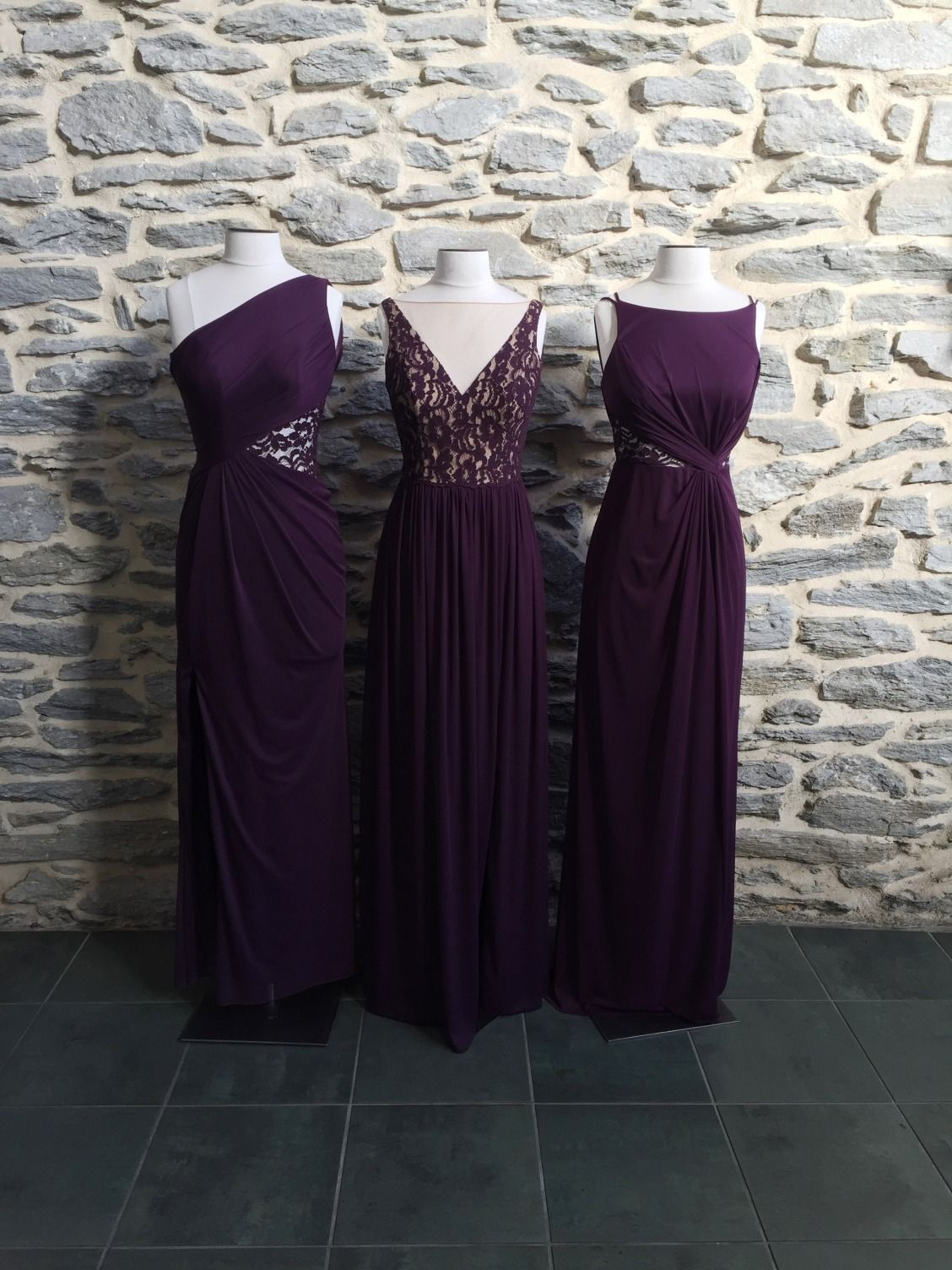 Pretty in plum these new bridesmaid dresses available at davids these new bridesmaid dresses available at davids bridal will be beautiful down ombrellifo Image collections