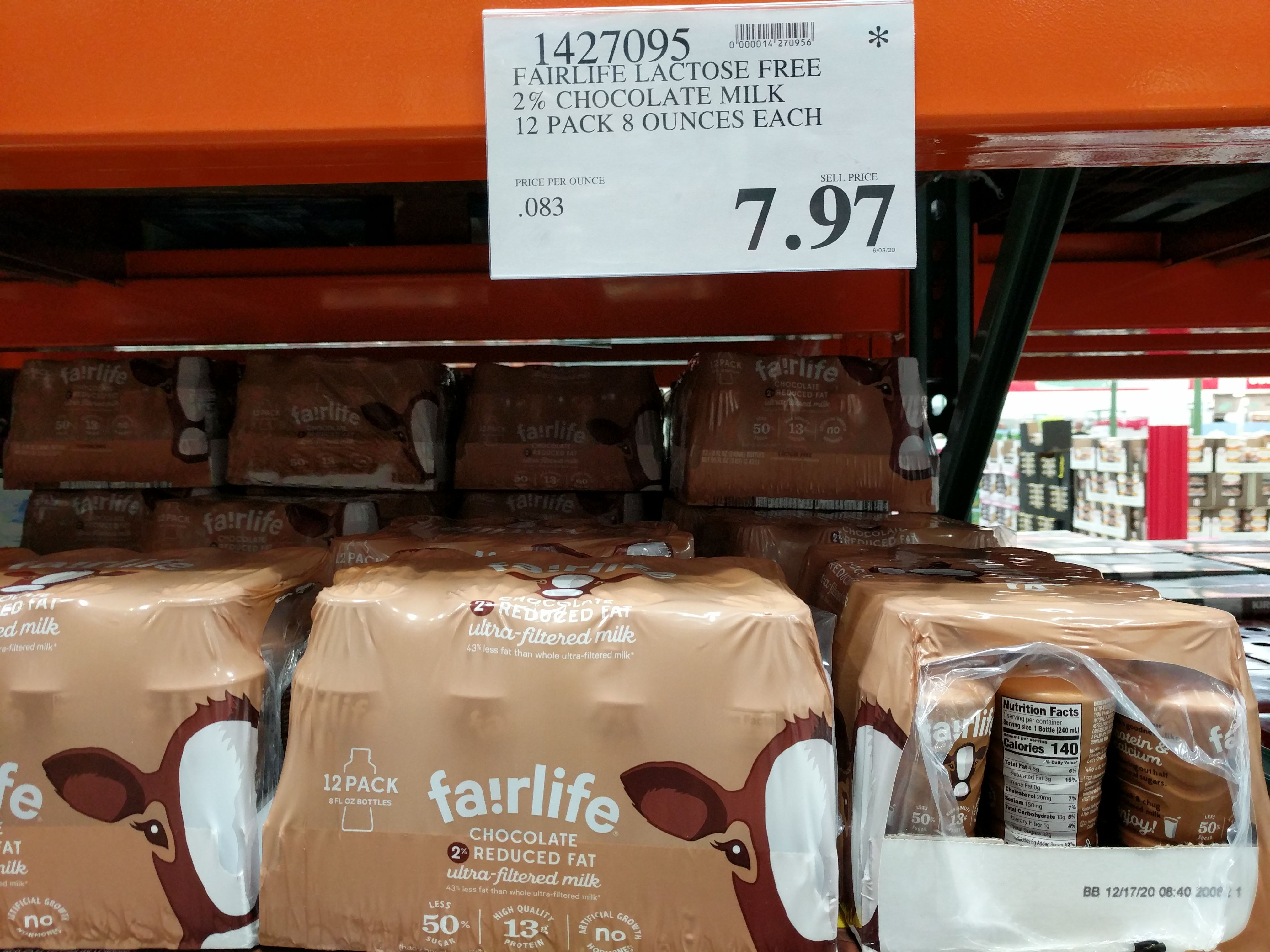 Fair life lactose free 2 chocolate milk 7 costco