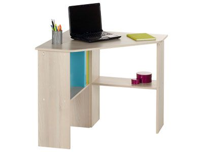 Bureau informatique dangle ANGUS coloris acacia code article