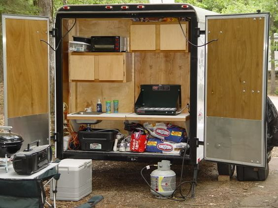 Enclosed Bed Google Search: Cargo Trailer Camper Conversion - Google Search:
