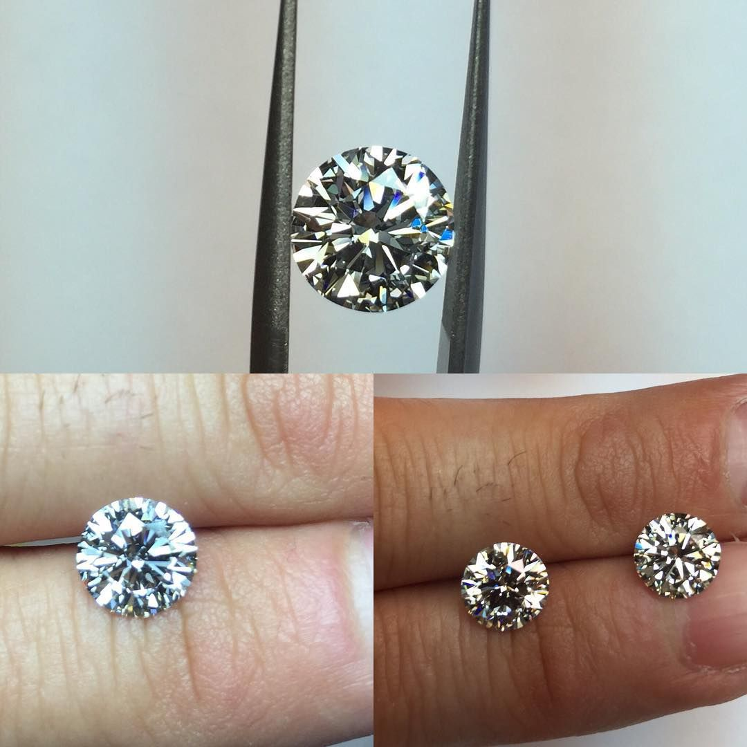 Here's a rare opportunity on a diamond that looks like 2ct's without the 2ct price!  1.81ct H, VS2 GIA it's a stunner!! In the pic on the bottom right, can you tell which one is the 2ct?  Contact Shaun at www.indyfacets.com for more details.  @indyfacets #indyfacets #loosediamonds #engagementrings #proposal #2ct #dreamring #luxury