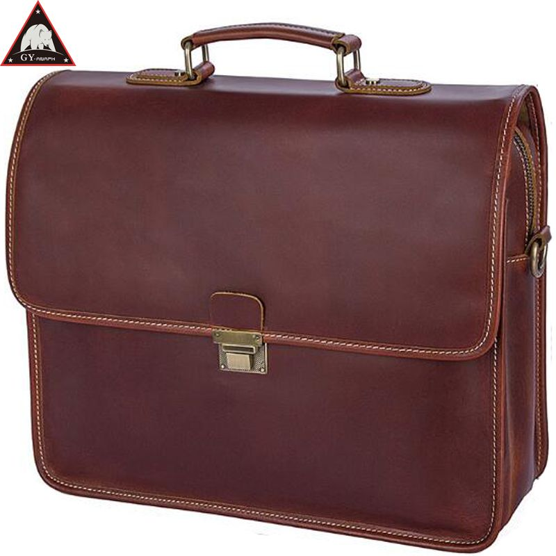 37f7b0179 [55% off] ANAPH Original Business Men's Full Grain Leather Briefcases  Luxury Messenger Bags High Quality Totes 15 Inch Laptop Bag Wine #fashion  #celebrities ...