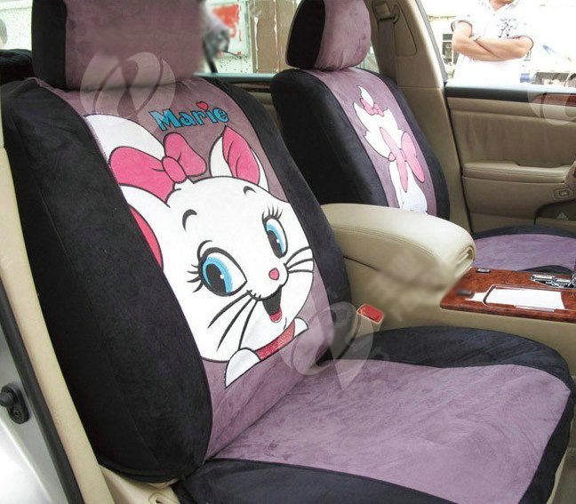 purple seat covers disney mariea cat custom auto car seat cover set suede purple car seat. Black Bedroom Furniture Sets. Home Design Ideas